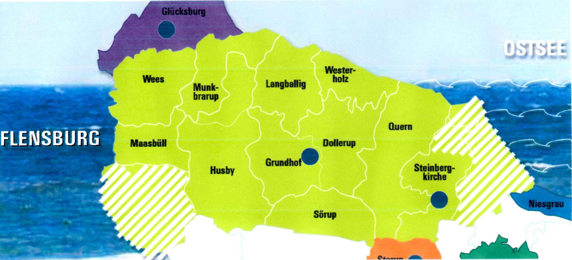 Karte des Verbandsgebiet
